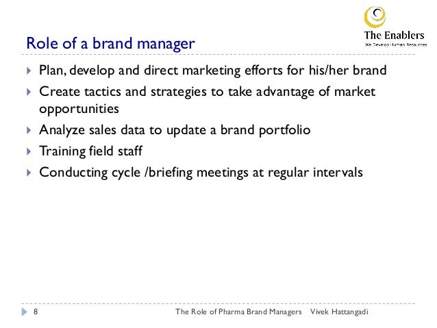 Role Of Pharma Brand Manager