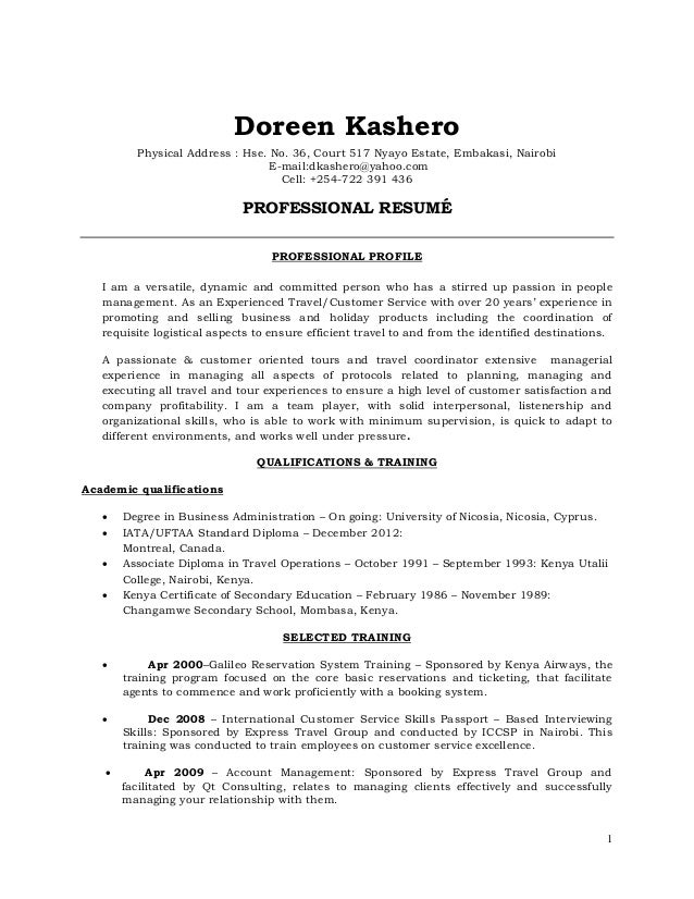 Doreen Kashero Resume June 2016