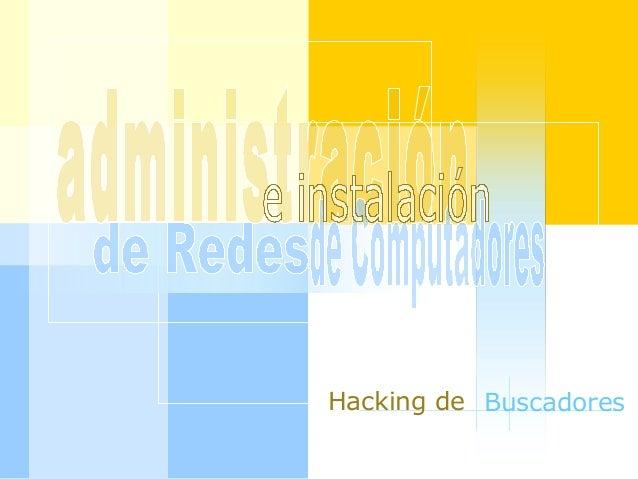 Hacking de Buscadores