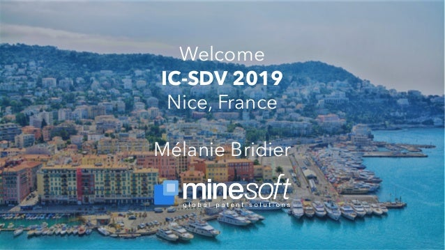 Welcome IC-SDV 2019 Nice, France Mélanie Bridier