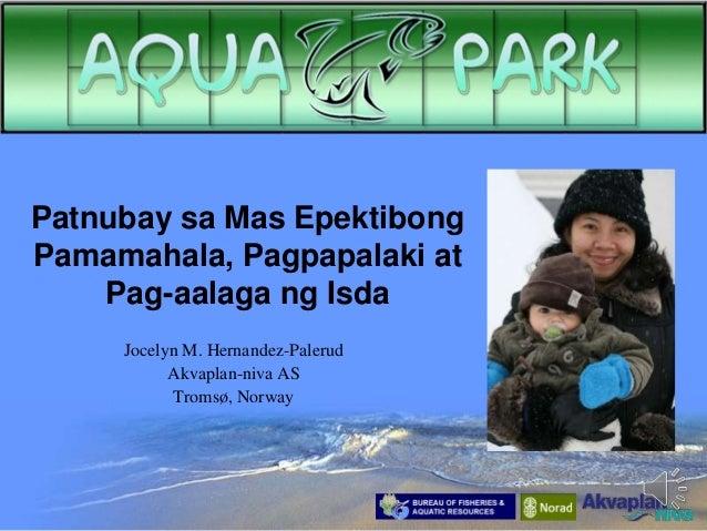 Patnubay sa Mas Epektibong Pamamahala, Pagpapalaki at Pag-aalaga ng Isda Jocelyn M. Hernandez-Palerud Akvaplan-niva AS Tro...