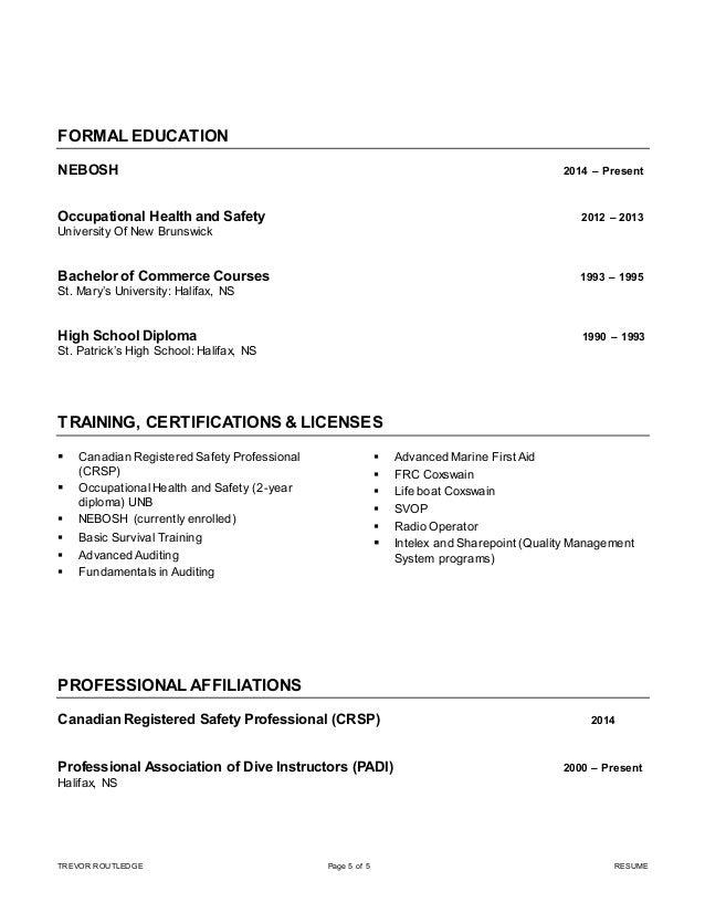 trevor routledge crsp resume linkedin