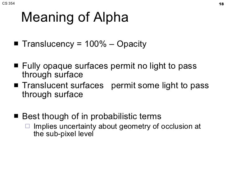 what means alpha