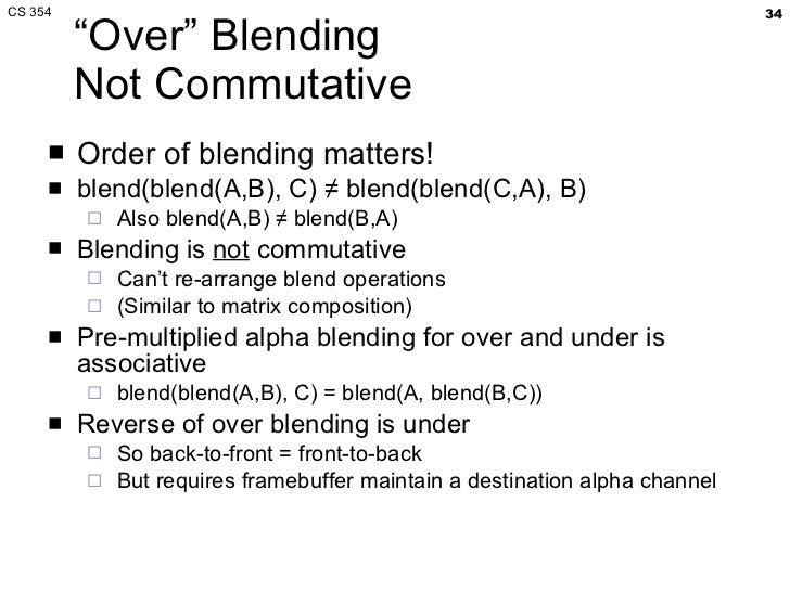 CS 354 Blending, Compositing, Anti-aliasing