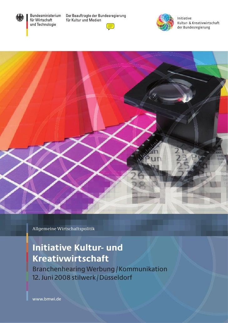 InitiativeKultur- & Kreativwirtschaftder Bundesregierung