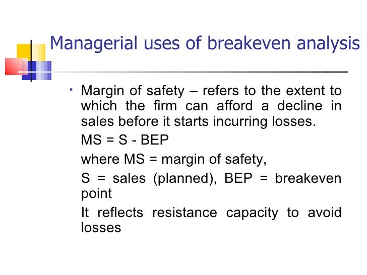 Business Economics  Breakeven Analysis