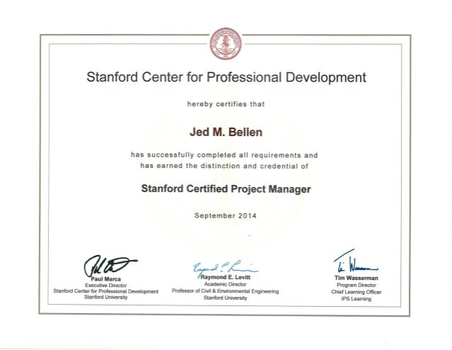 Stanford Certificate