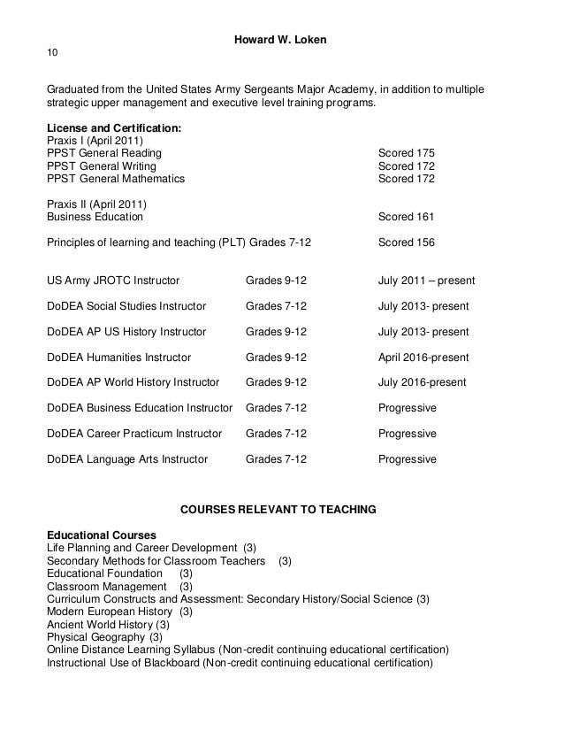 adjunct resume
