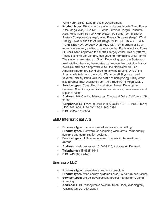Wind Turbine Repair Sample Resume] Professional Wind Turbine ...