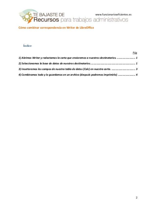 Cómo combinar correspondencia en writer de libreoffice Slide 2