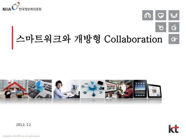 스마트워크와 개방형 Collaboration               2012. 12Copyrightⓒ 2012 KT Corp. All right reserved.