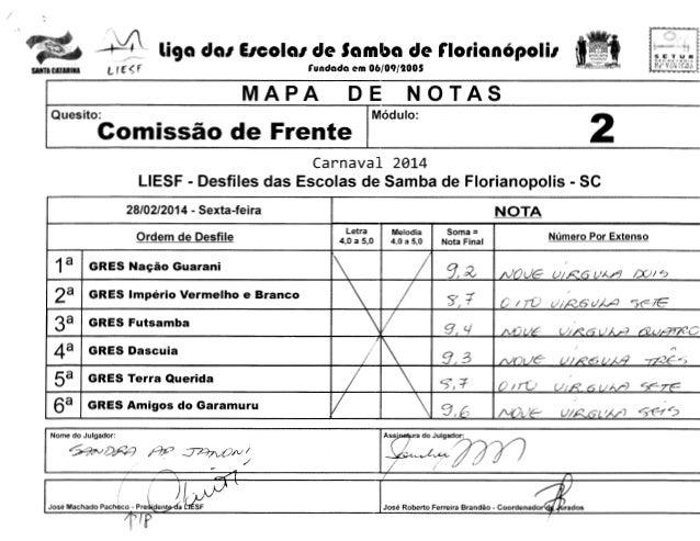I  .  ''  -  ~~  li9a da1 E1cola1 de Samba de r1orian6poli1  SETUR sr::cnr-  MAPA  ~~  ........ ..,. ...  ~  NOT AS  DE  I...