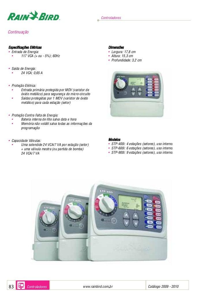 Controladores para sistemas de irrigacao