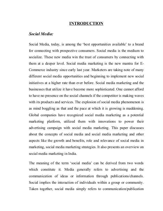 SOCIAL MEDIA AS A MARKETING TOOL IN INDIA