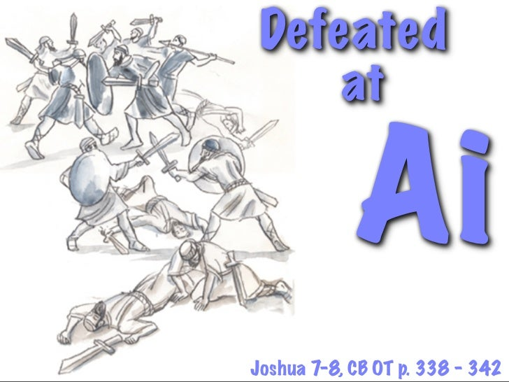 sin of achan coloring pages - defeat at ai