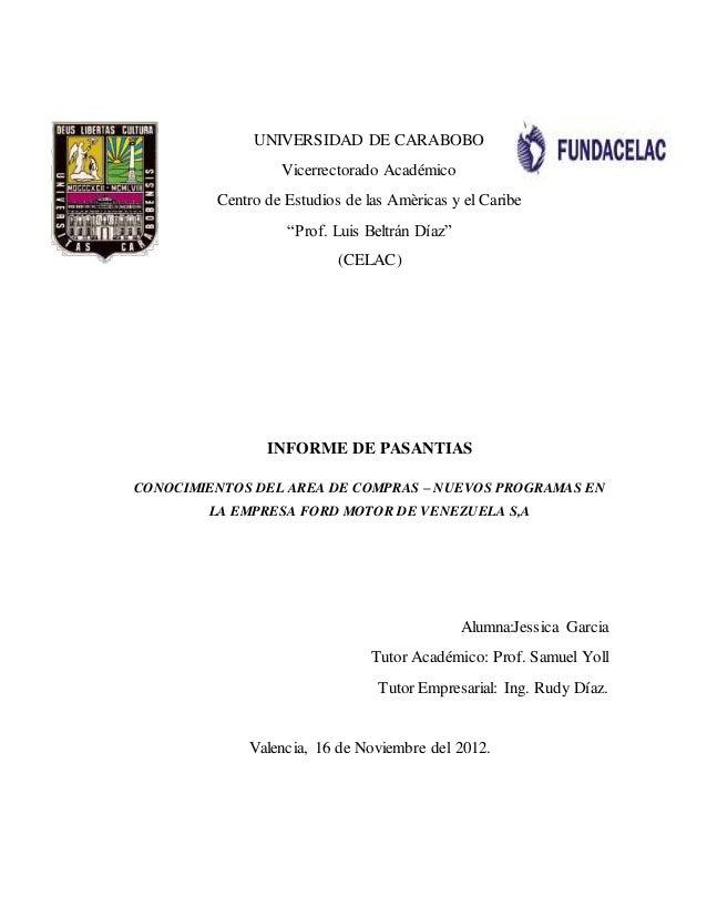 """UNIVERSIDAD DE CARABOBO Vicerrectorado Académico Centro de Estudios de las Amèricas y el Caribe """"Prof. Luis Beltrán Díaz"""" ..."""