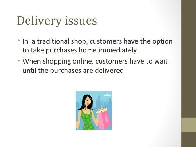 Drawbacks of e-commerce