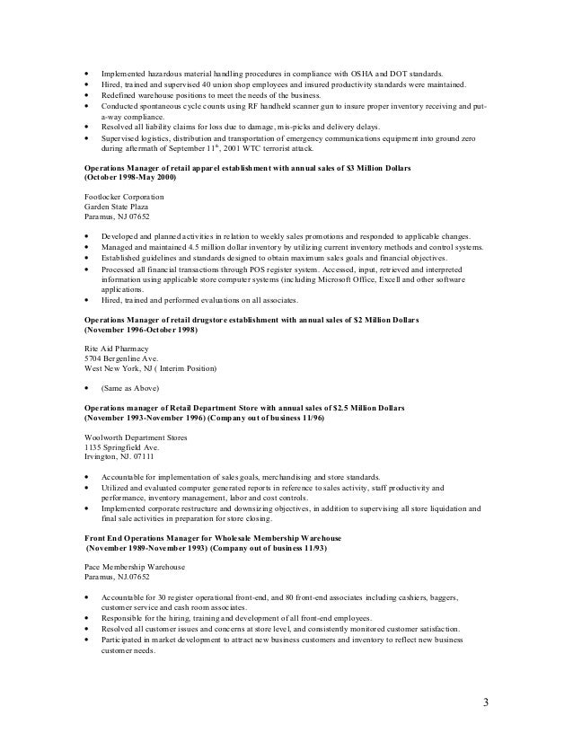 2 3 - Warehouse Inventory Cover Letter