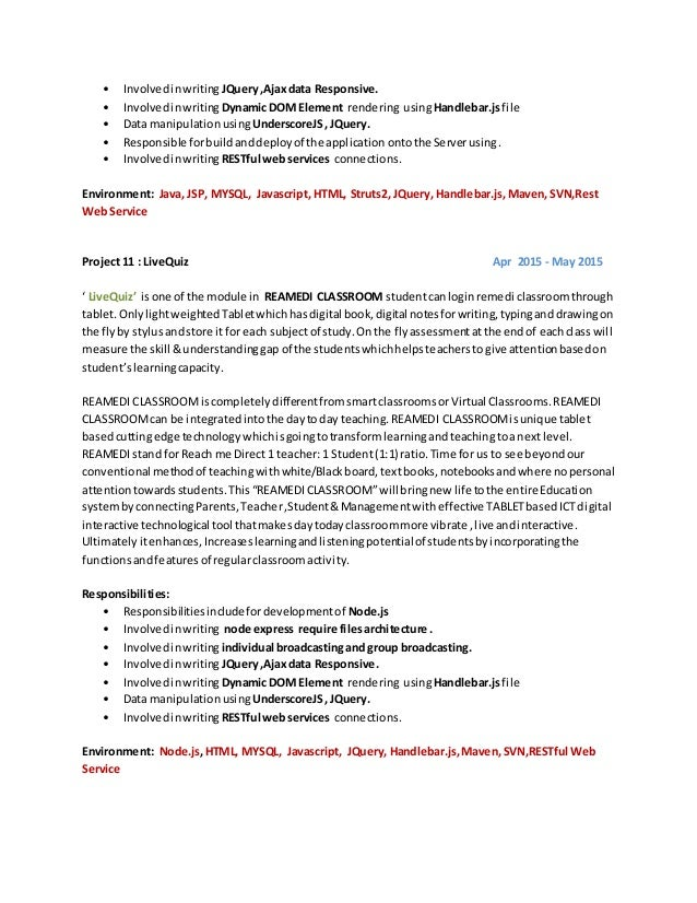 5 - Restful Web Services Resume