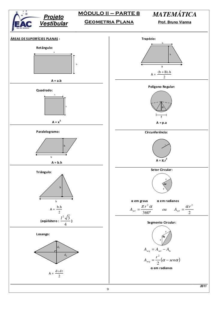 08 eac proj vest mat m dulo 2 geometria plana for Um losango e interno a uma circunferencia de 6cm de raio