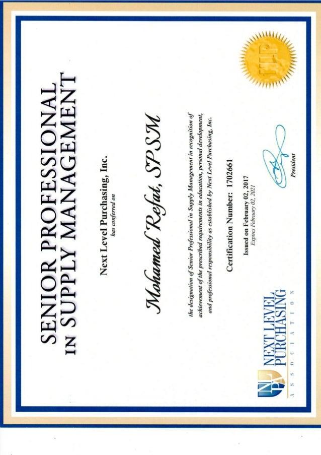 Spsm Certificate