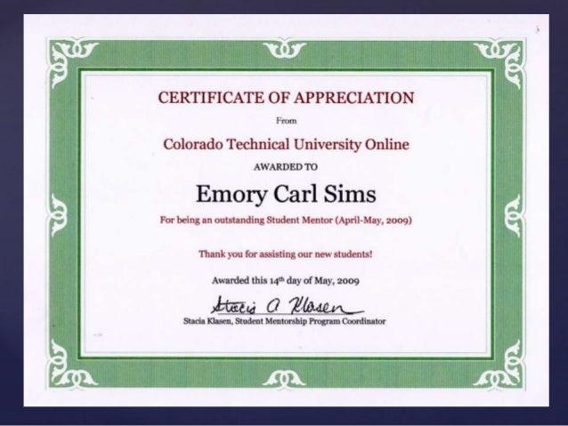 CTU Volunteer Certificates