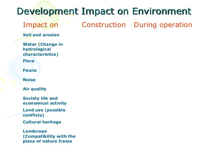 thesis on the impacts of construction on the environment