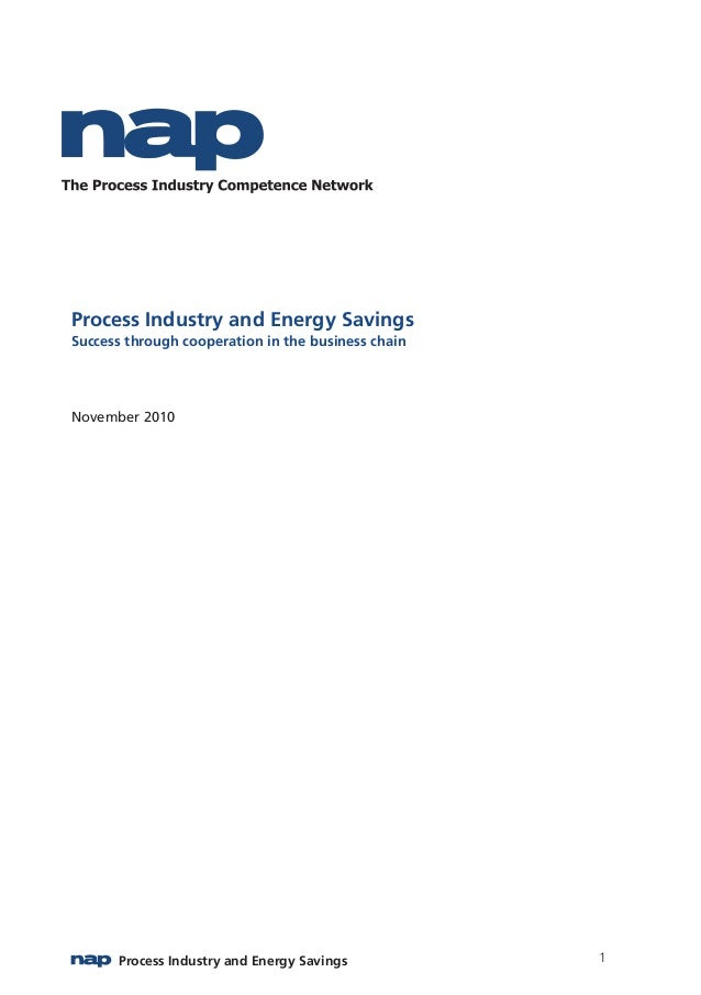 Process Industry and Energy Savings1 Process Industry and Energy Savings Success through cooperation in the business chain...