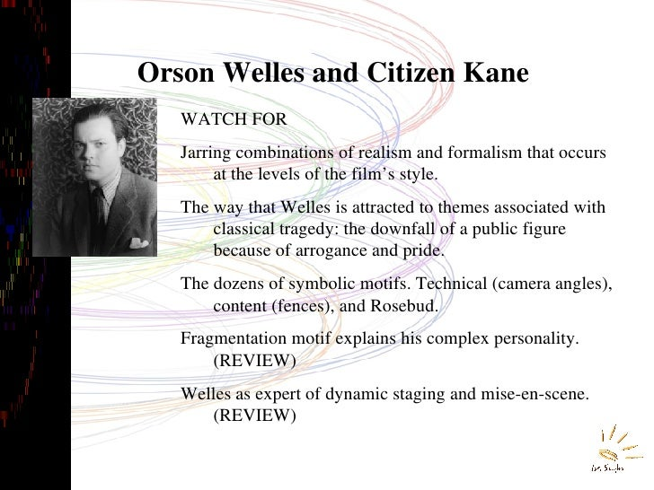 An analysis of the stylistic elements of the movie citizen kane by orson welles