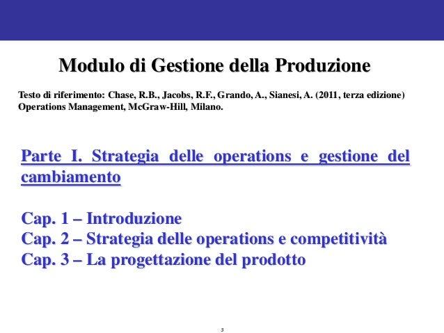 Economia dei Sistemi Produttivi  08 gestione della produzione1 Slide 3