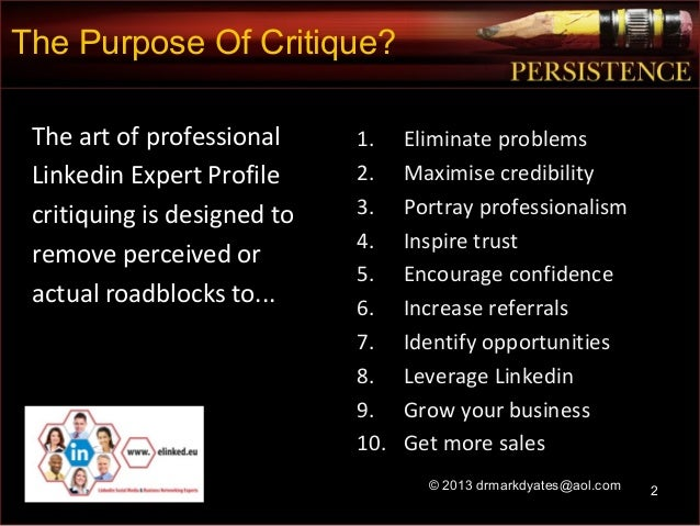 08 how to professionally evaluate critique a linkedin business prof – Professional Business Profile
