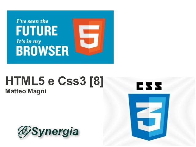 HTML5 e Css3 [8]Matteo Magni
