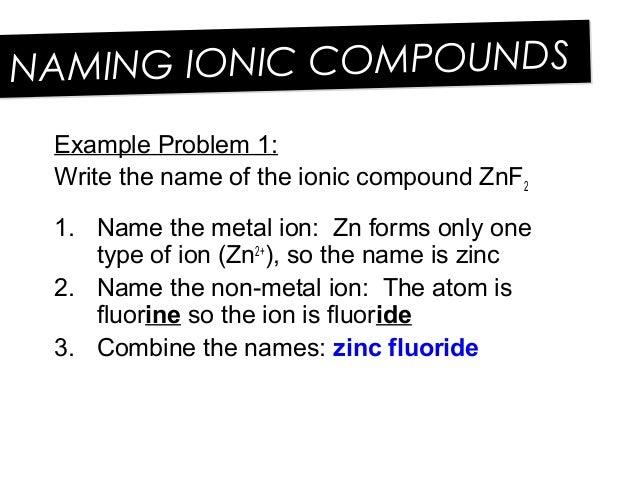 Grade 9 U1 L12 Ionic Compounds