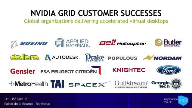NVIDIA GRID CUSTOMER SUCCESSES Global organizations delivering accelerated virtual desktops