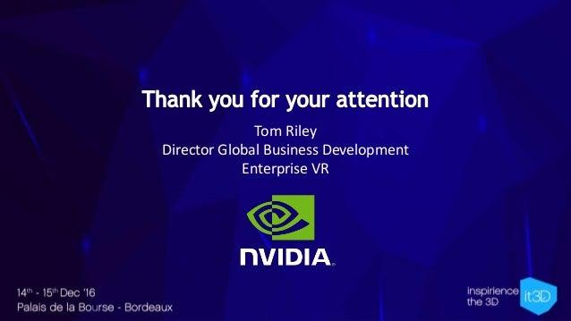 Tom Riley Director Global Business Development Enterprise VR