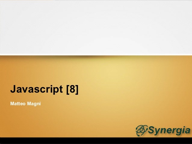 Javascript [8]Matteo Magni