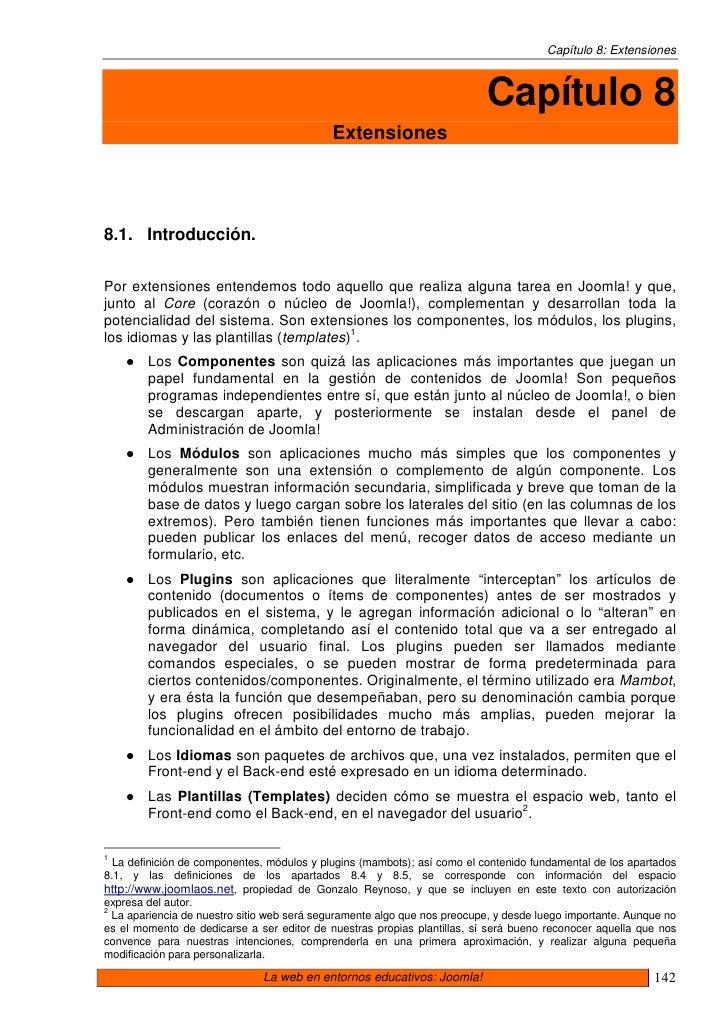 Capítulo 8: Extensiones                                                                              Capítulo 8           ...