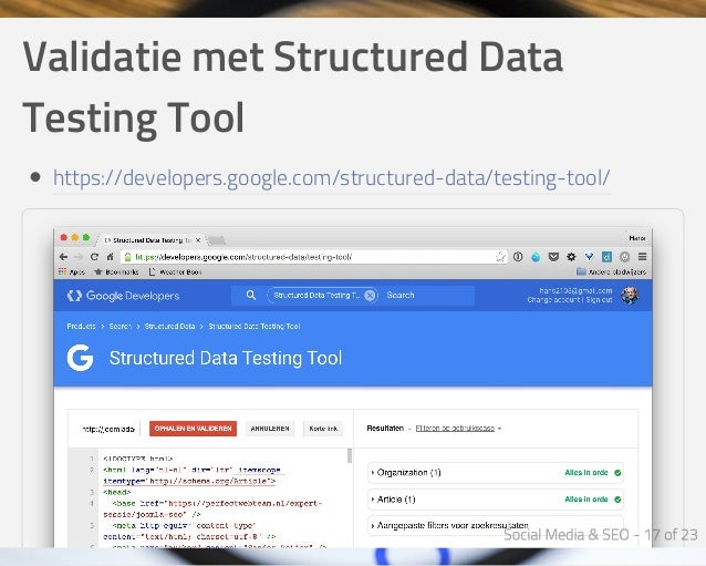 ValidatiemetStructuredData TestingTool https://developers.google.com/structured-data/testing-tool/