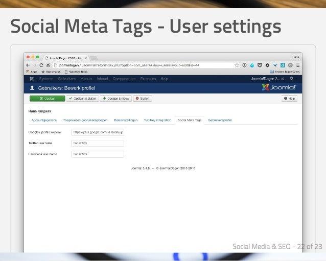 SocialMetaTags-Usersettings
