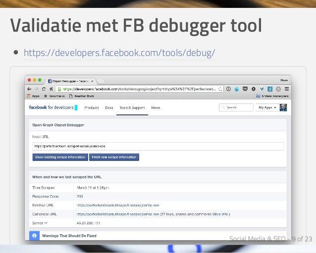 ValidatiemetFBdebuggertool https://developers.facebook.com/tools/debug/
