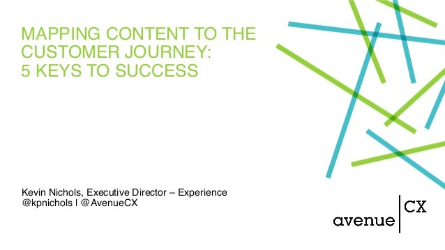 MAPPING CONTENT TO THE CUSTOMER JOURNEY: 5 KEYS TO SUCCESS Kevin Nichols, Executive Director – Experience @kpnichols | @Av...