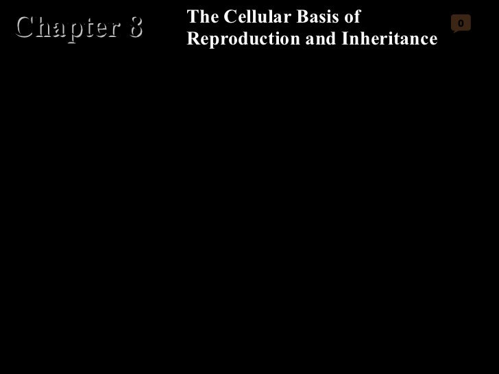 Chapter 8 The Cellular Basis of Reproduction and Inheritance 0