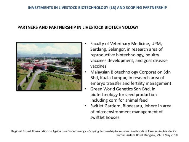 Investment In Livestock Biotechnology And Scoping Partnership