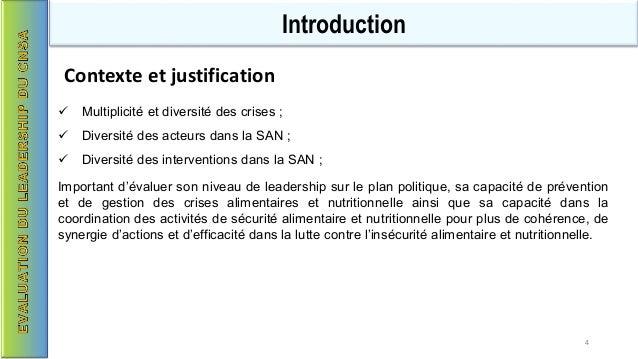  Multiplicité et diversité des crises ;  Diversité des acteurs dans la SAN ;  Diversité des interventions dans la SAN ;...