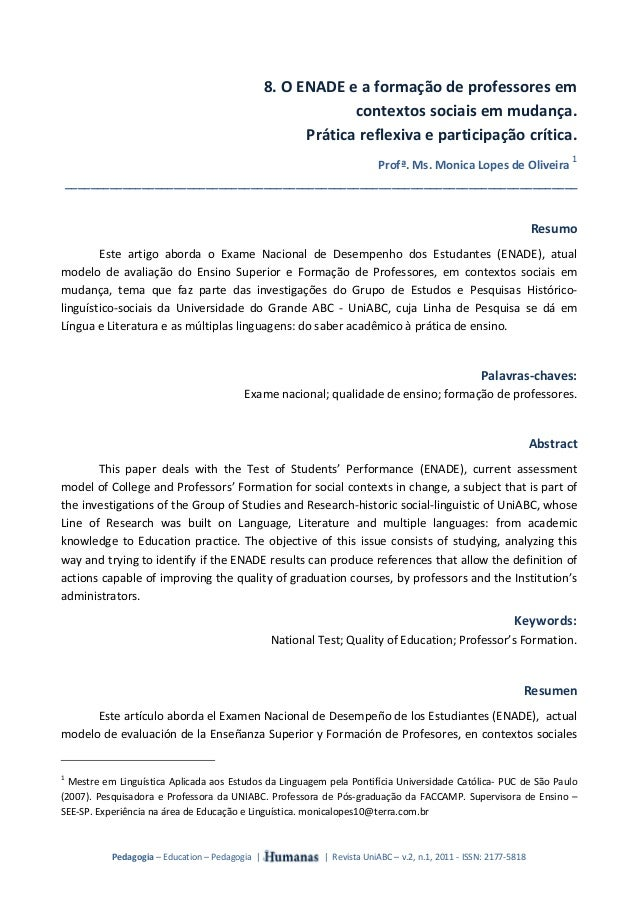 Pedagogia – Education – Pedagogia  |                             |  Revista UniABC – v.2, n.1, 2011 ‐ ISSN: 2177‐5818  8...