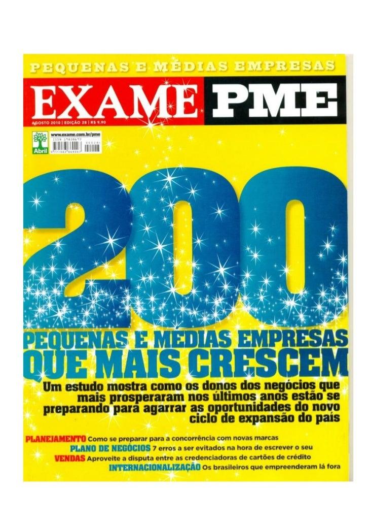 ExamePME - Plano1 está entre as 200 empresas que mais crescem do Brasil