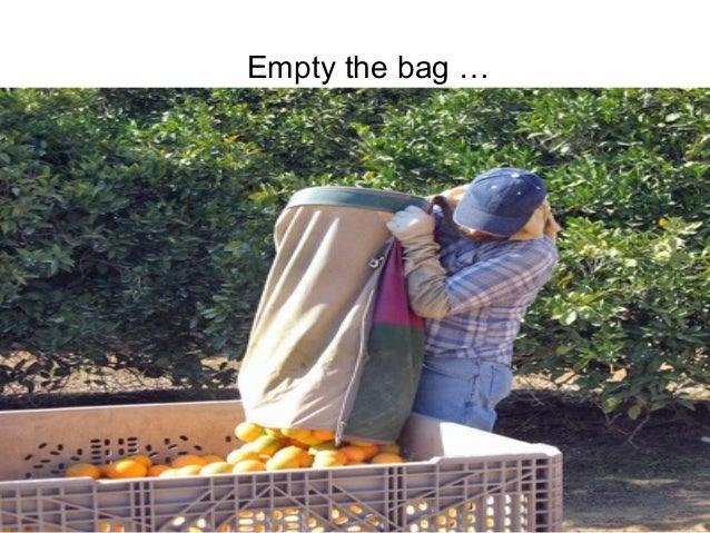 P r oj Empty the bag …