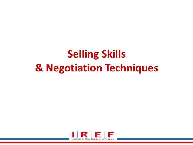 Selling Skills & Negotiation Techniques