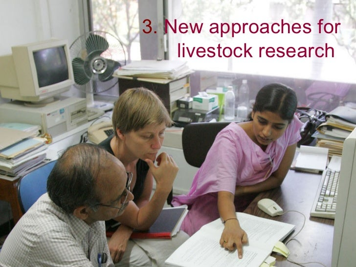 3. New approaches for     livestock research