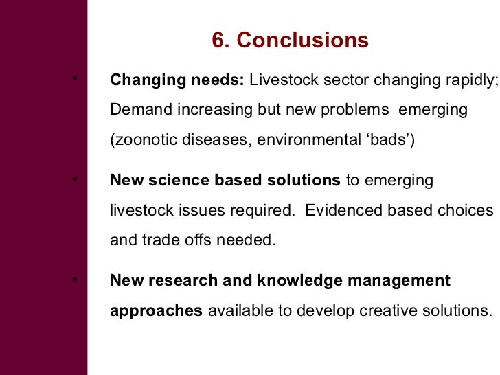 Changing needs          New approaches In livestock sector      to research and                       knowledge management...
